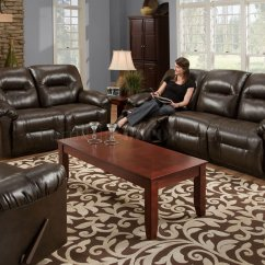 Modern Bonded Leather Sectional Sofa With Recliners Craftmaster Sleeper Brown Double Reclining