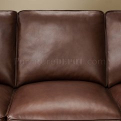 Classic Italian Leather Sofa Modern Fabric Texture Cocoa Brown Top Grain Traditional