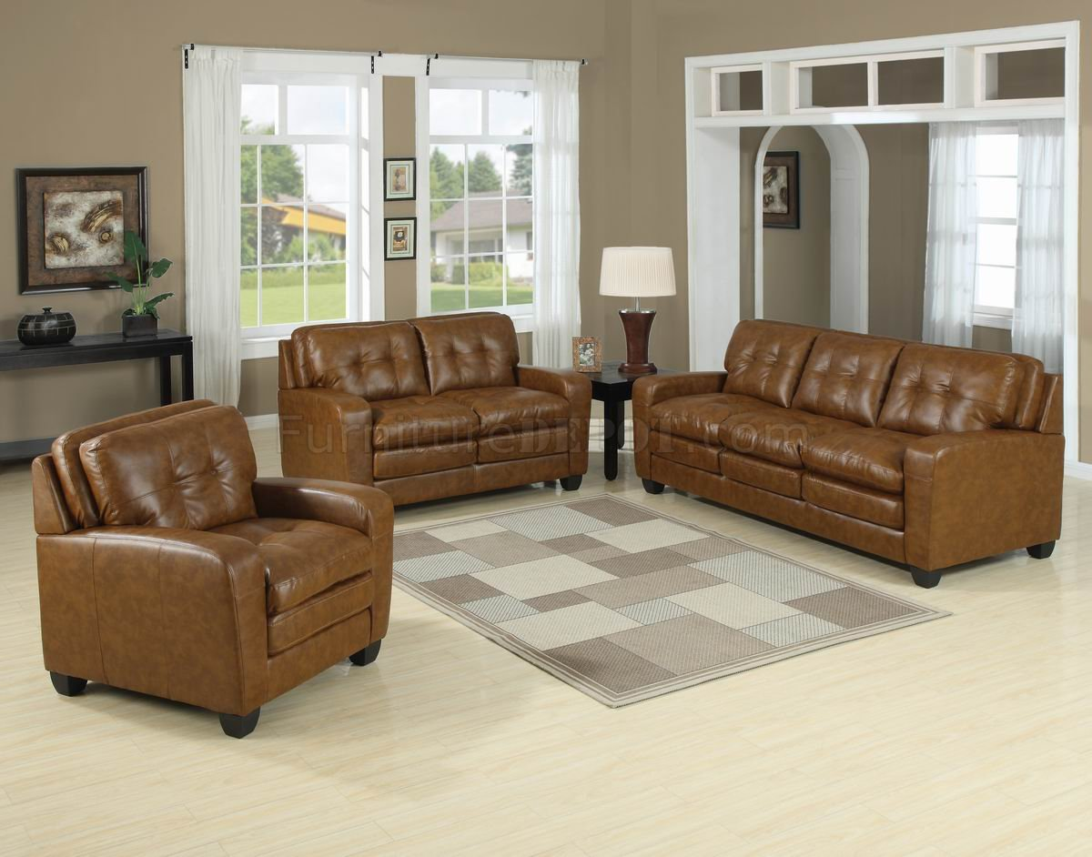 caramel colored leather sofas two tone bonded modern sofa and loveseat set w options