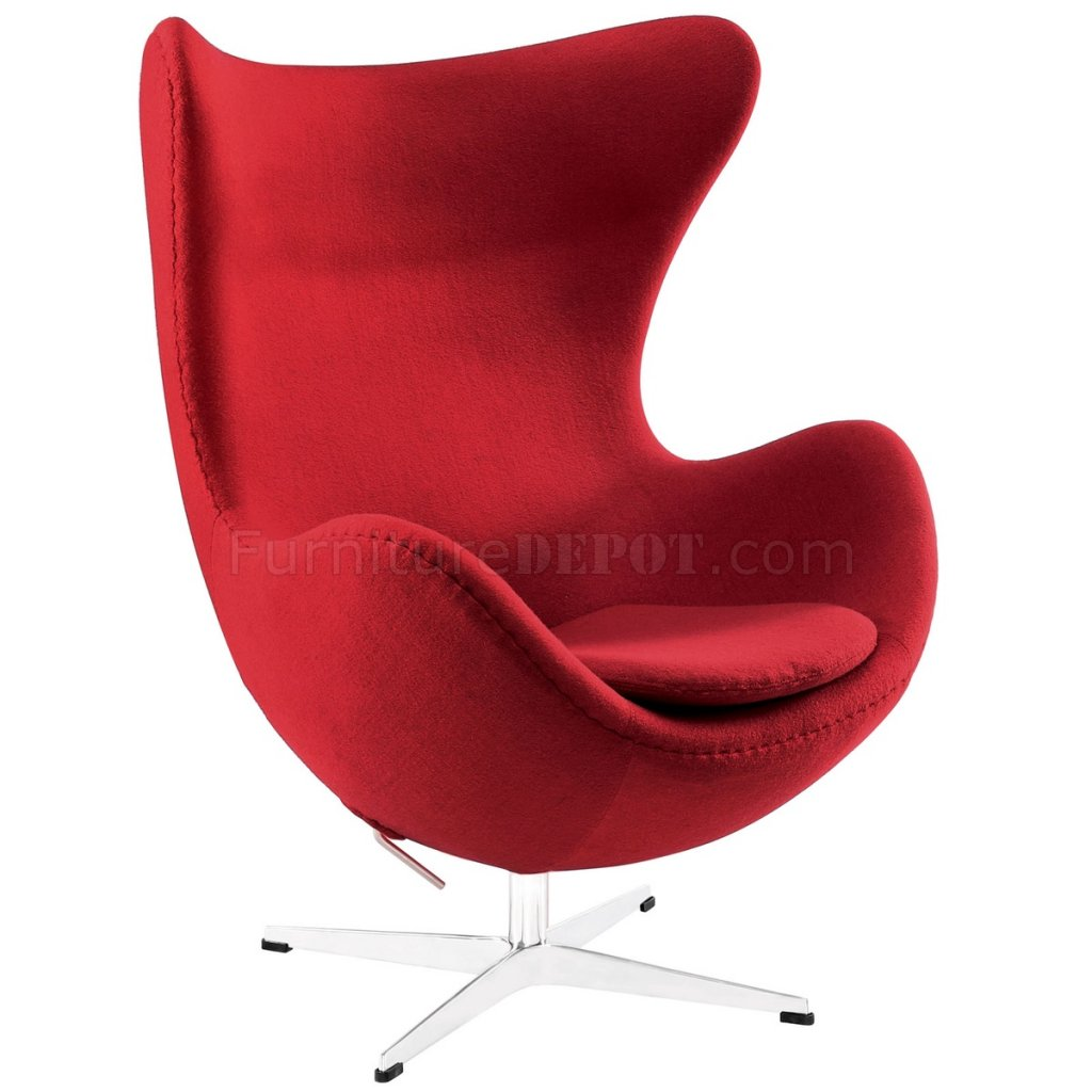 Glove Wool Lounge Chair Choice of Color by Modway