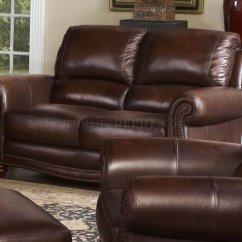Leather Italia Sofa Furniture Vatar Tobacco James Loveseat Set W Options