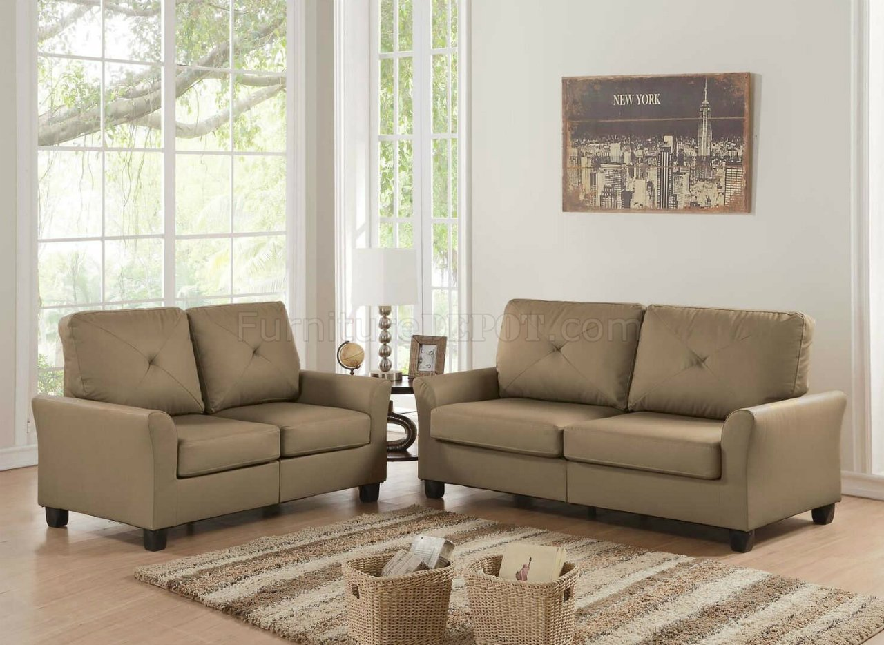 acme sectional sofa chocolate childs 2 seater hecla and loveseat 52850 in waterproof brown fabric by