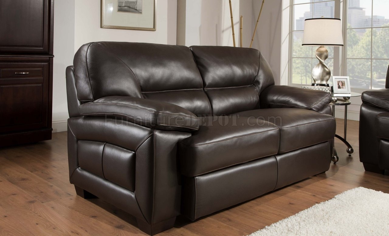sectional sofas and recliners black sofa loveseat truffle-brown top grain leather modern & set