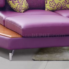 Leatherette Sofa Durability Stainless Steel Set Images Purple Genuine Italian Leather Modern Sectional W/shelves