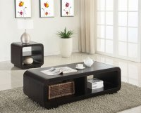 700794 Coffee Table & End Table 2Pc Set in Cappuccino by ...