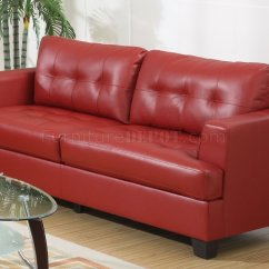 Ashley Red Leather Sofa Nj Bonded Alliston Salsa