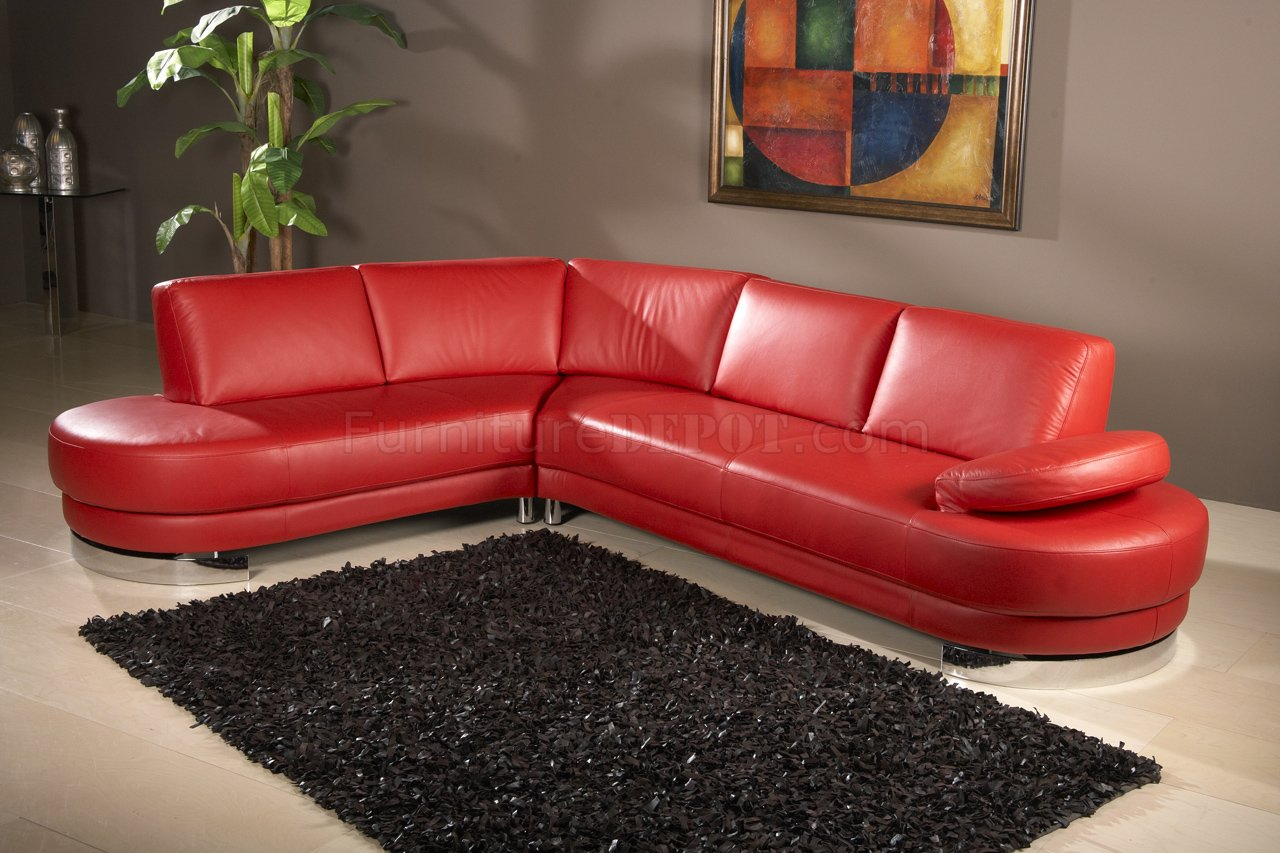 red modern sectional sofa surefit slipcover leatherette w adjustable arm