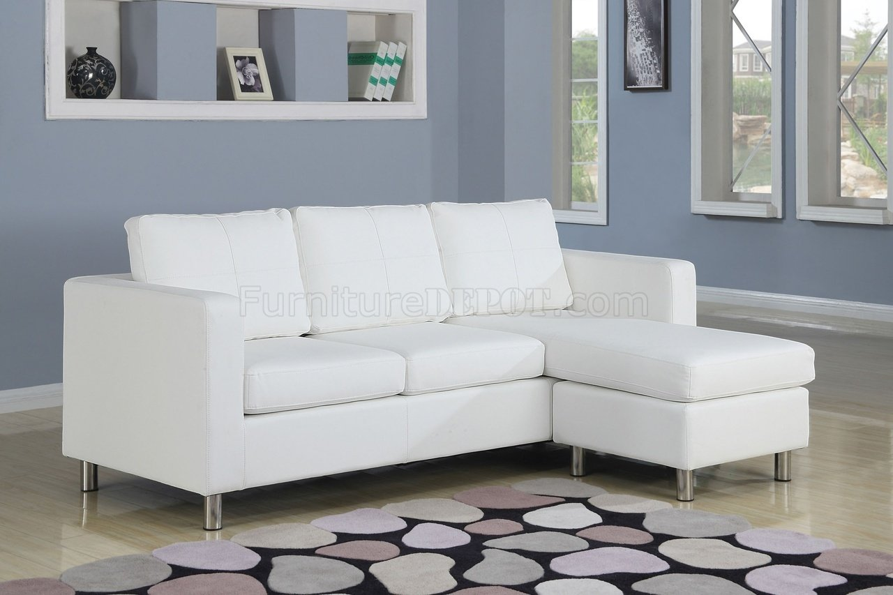 15068 kemen sectional in white vinyl