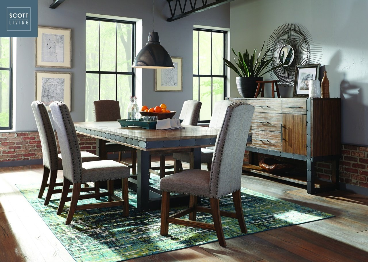 table and chairs with bench bedroom chair decor atwater 107721 - scott living coaster dining