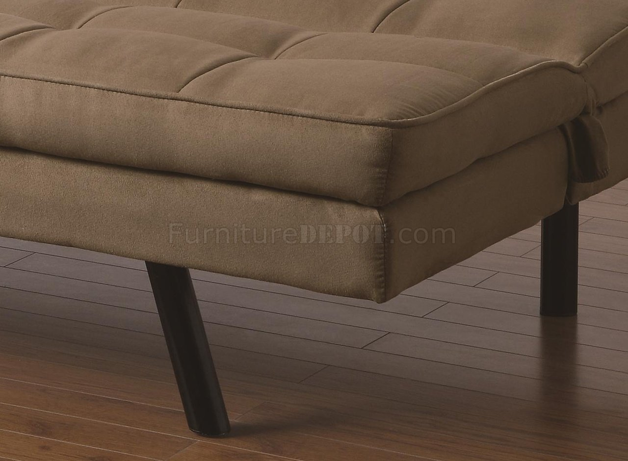 tan fabric sofa how to build a from scratch modern elegant armrest convertible bed