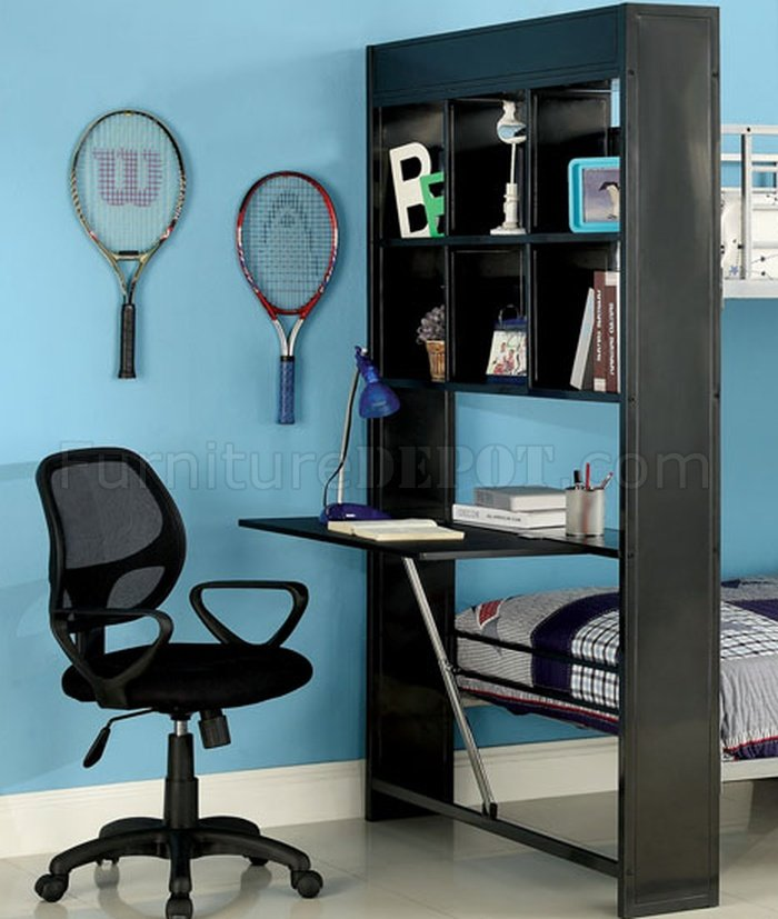 CMBK2009 Langley Bunk Bed wBookcase  Folding Desk