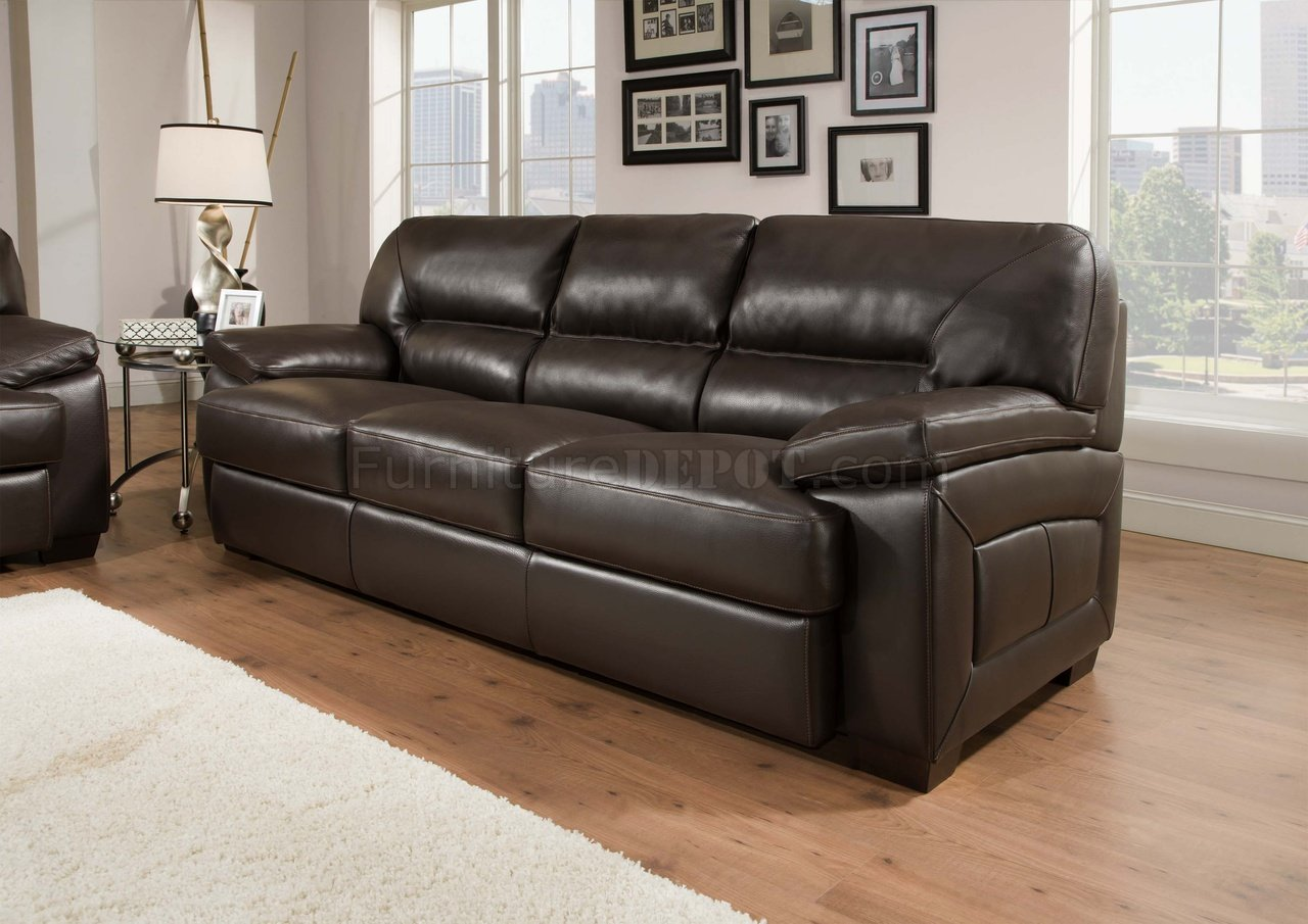 leather sofa brown contemporary cushion foam online truffle top grain modern and loveseat set