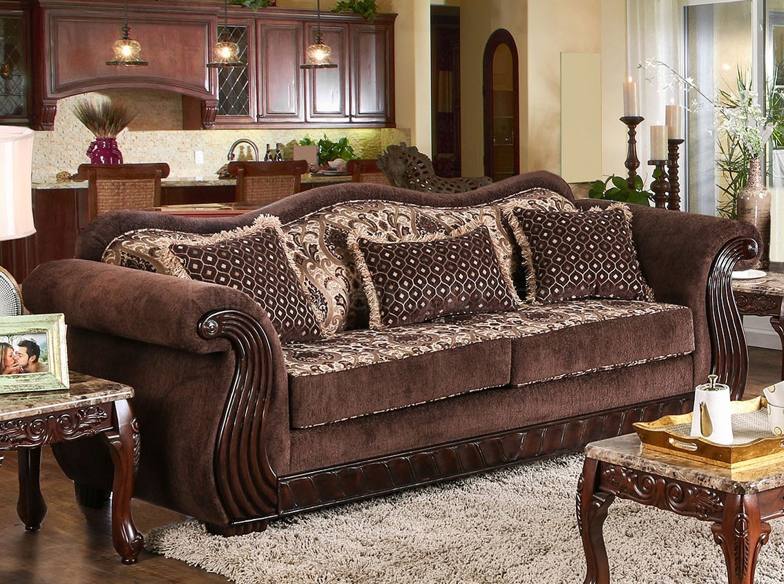 newton rolled arm sofa chaise convertible bed reviews white stone table kensett sm6210 in brown chenille fabric w options