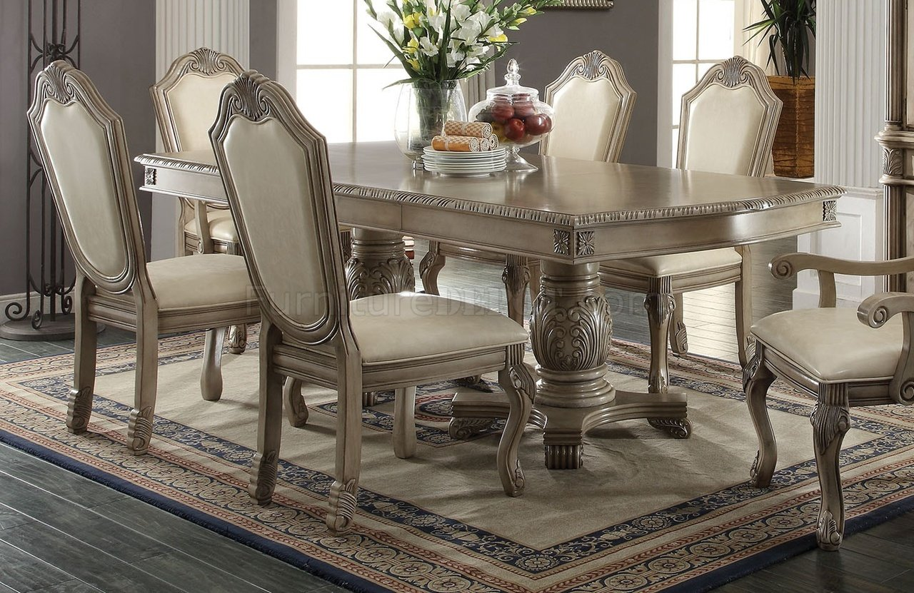 modern white office chairs tiger print dining chateau de ville table by acme