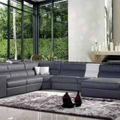 White Bonded Leather Sectional Sofa Set With Light Living Room Ideas Burgundy Polaris In Grey By Vig Furniture