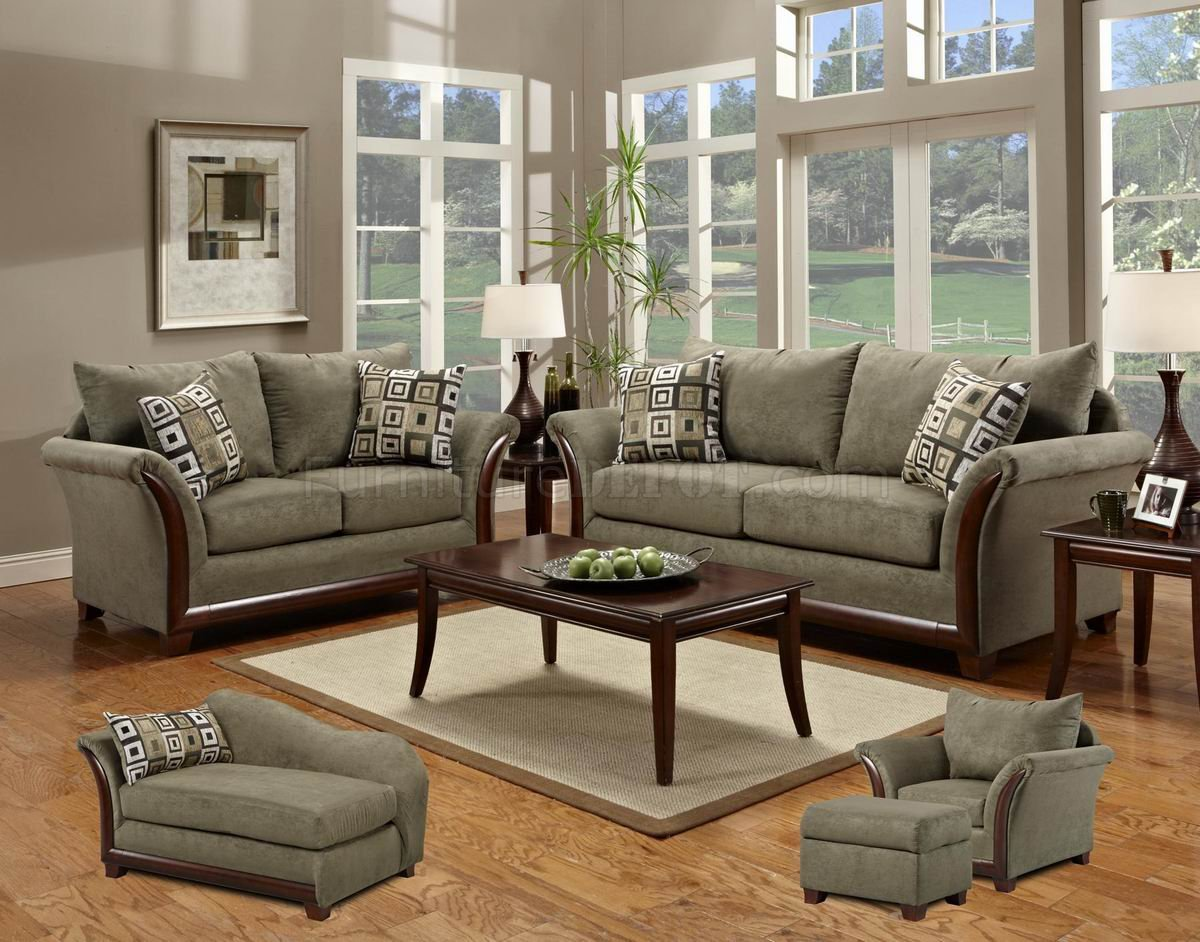 sage green leather sofa mainstays sleeper review fabric modern & loveseat set w/optional items