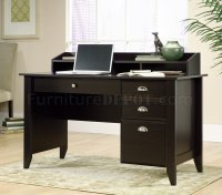 Jamocha Wood Finish Modern Home Office Desk