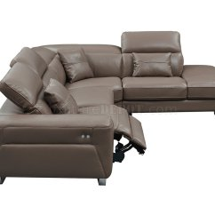Brown Leather Sofa Recliner Fix Sagging Springs 468 Motion Sectional By Esf W Power