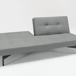 Grey Modern Sofa Bed Black And White Leather Ebay Or Leatherette By Innovation Living