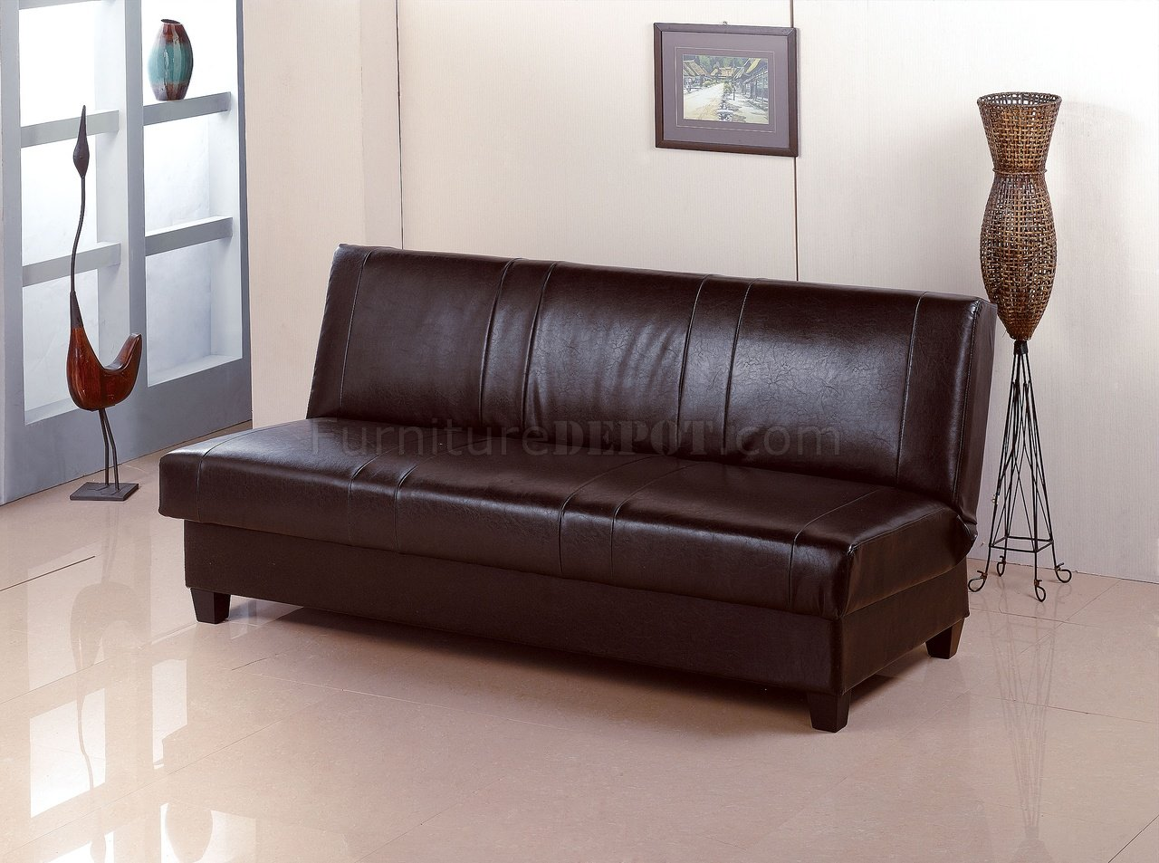 rome faux leather convertible sofa bed brown contemporary round sectional deep