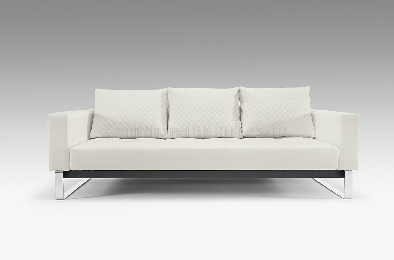 Cassius Deluxe WhiteBlackCamel Sofa Bed by Innovation