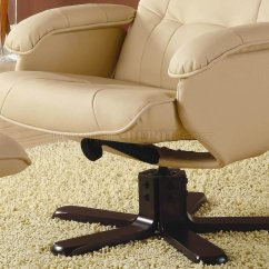 Ivory Leather Office Chair Yeti Accessories Bonded Match Modern Swivel W Ottoman
