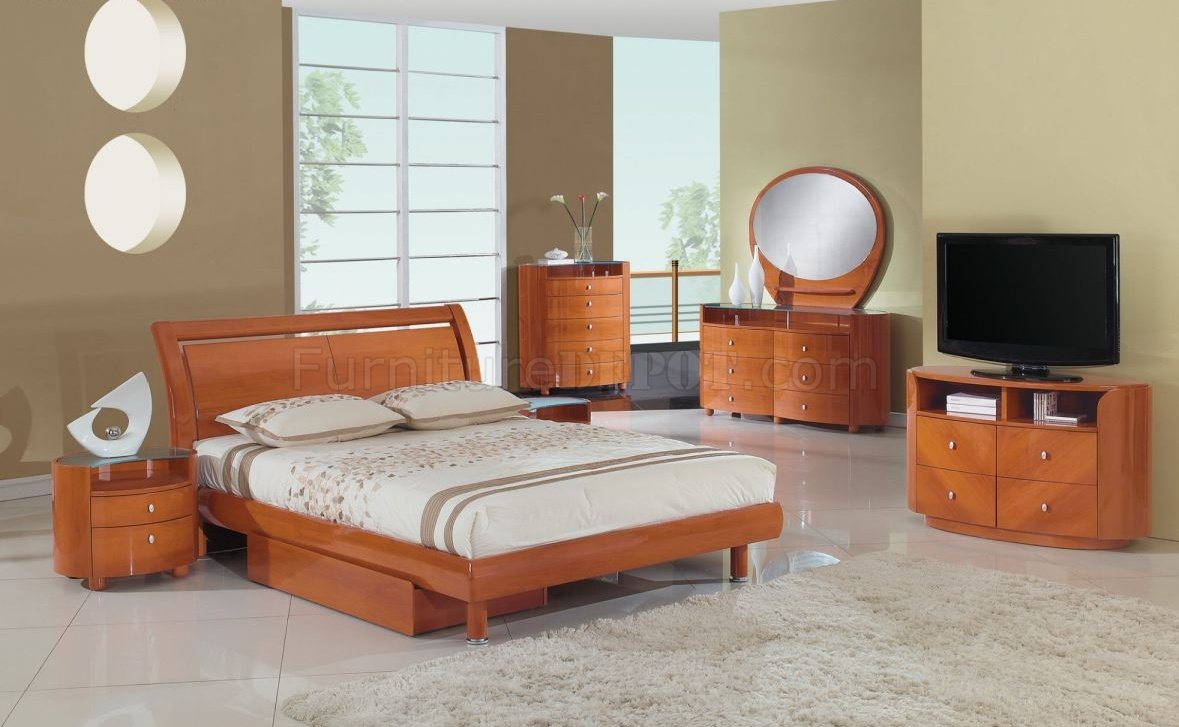 Emily Bedroom in Cherry by Global Furniture USA wOptions