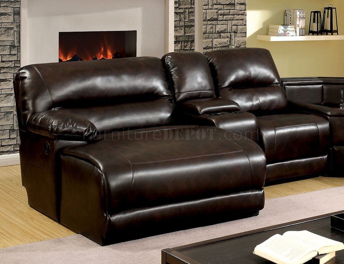 leather sofas glasgow area kuka sofa hong kong reclining sectional cm6822br in brown leatherette