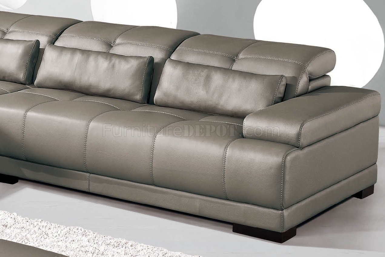 genuine leather sofa sets where to donate sofas grey sectional w/adjustable headrests