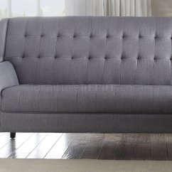 Light Gray Fabric Sectional Sofa Purple Velvet Bed Uk Watonga 53850 In Linen By