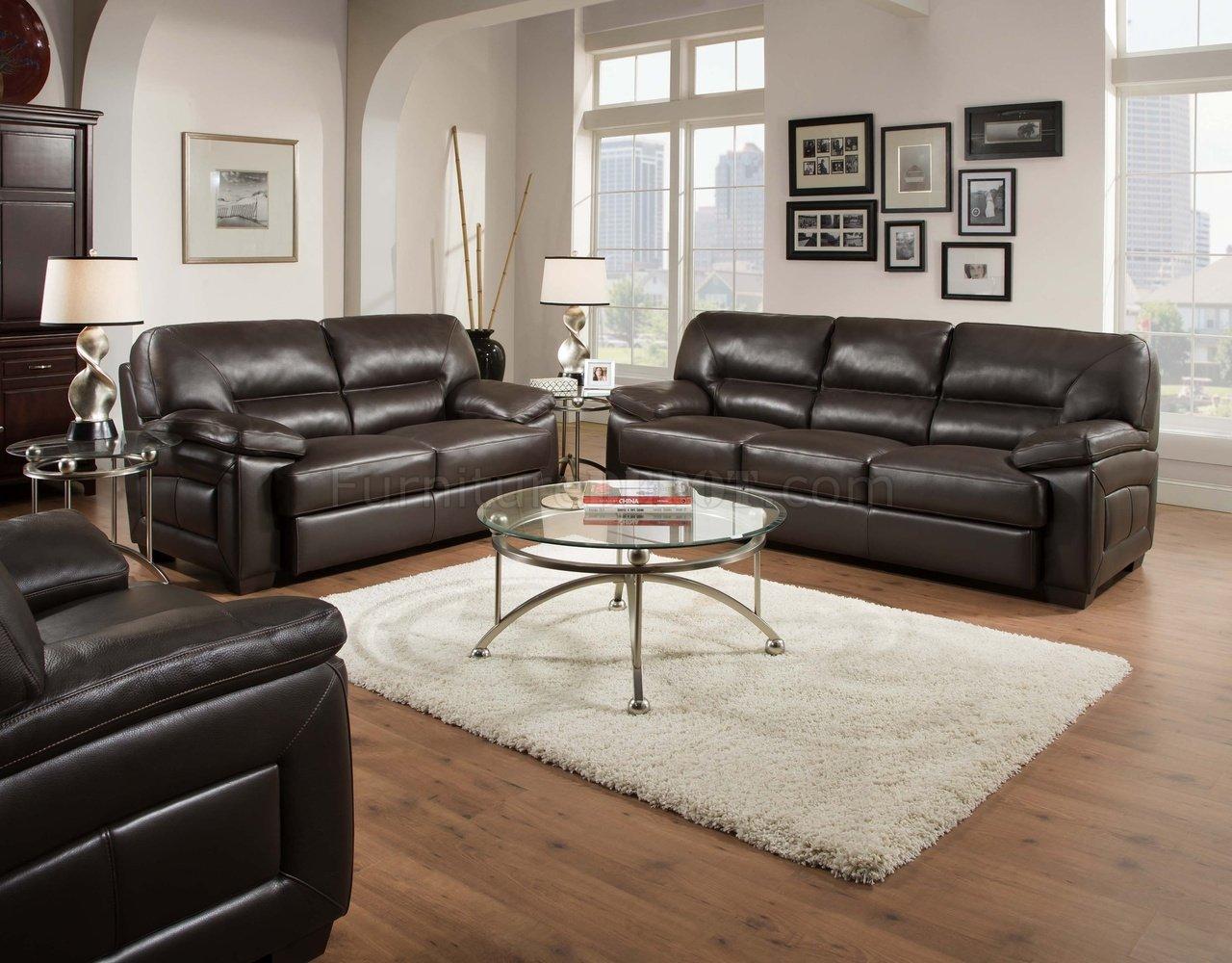 top grain leather sofa set plastic legs uk truffle brown modern and loveseat