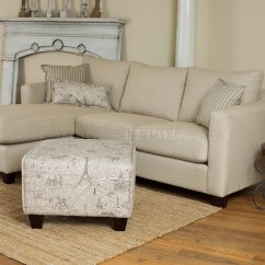 Cream Sectional Sofa Fabric 24 Inch Pillow Covers Reversible Modern W Optional