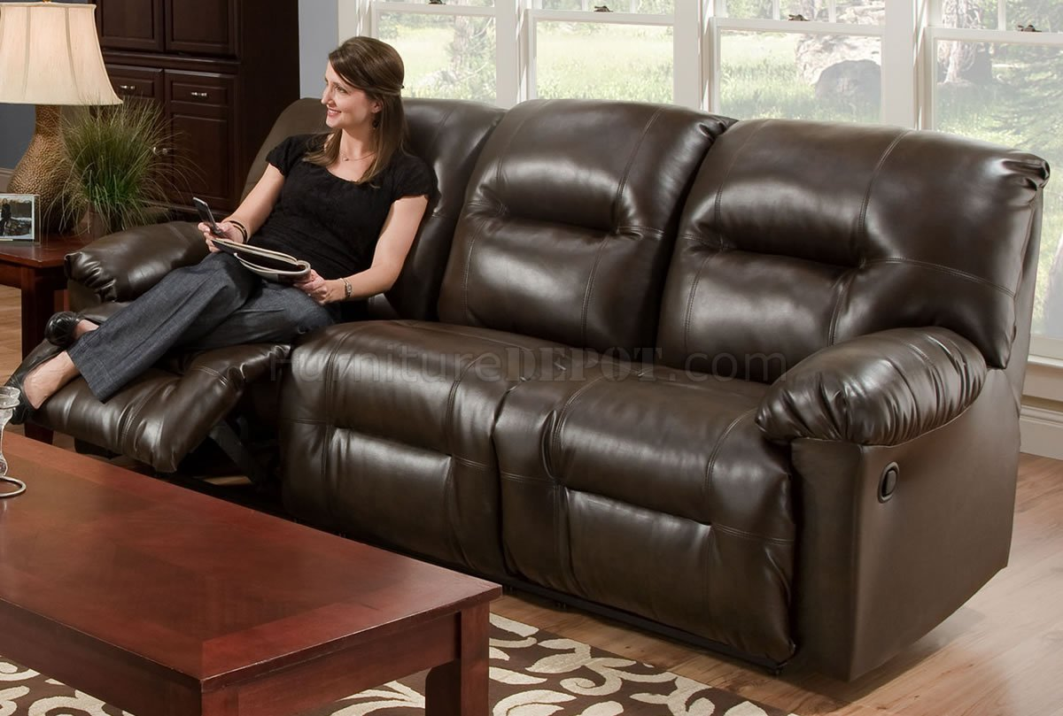 modern bonded leather sectional sofa with recliners 3 seat recliner cover brown double reclining