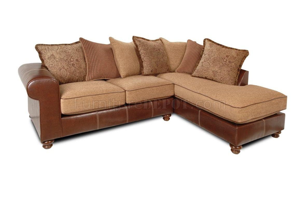 vinyl sectional sofa sofas sets los angeles mocha fabric and brown two tone modern