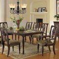 Dark brown classic dining room table w optional chairs