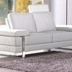 White Sofa Fabric Furniture Throw Covers For Modern 7095 W Optional Loveseat And Chair