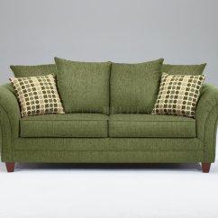 Light Green Sofa Bed Ikea Corner Forest Fabric Modern Living Room