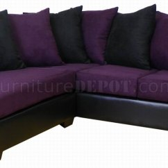 Eggplant Sofa Grey Velvet Corner Bed Fabric Black Bicast Modern Sectional
