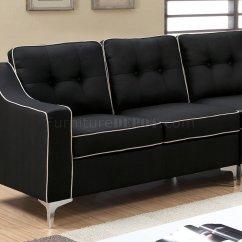 Black Fabric Sofa Chair Sectional Bed Macys Glenda Ii Cm6851bk In