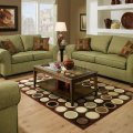 Olive fabric modern casual sofa amp loveseat set w throw pillows afs