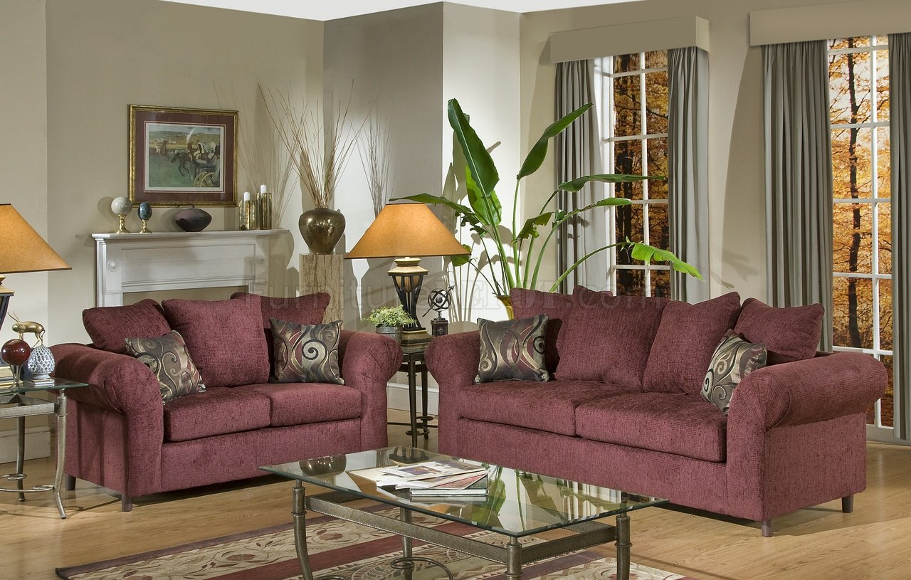 burgundy sofa and loveseat how to clean microfiber stains fabric traditional set