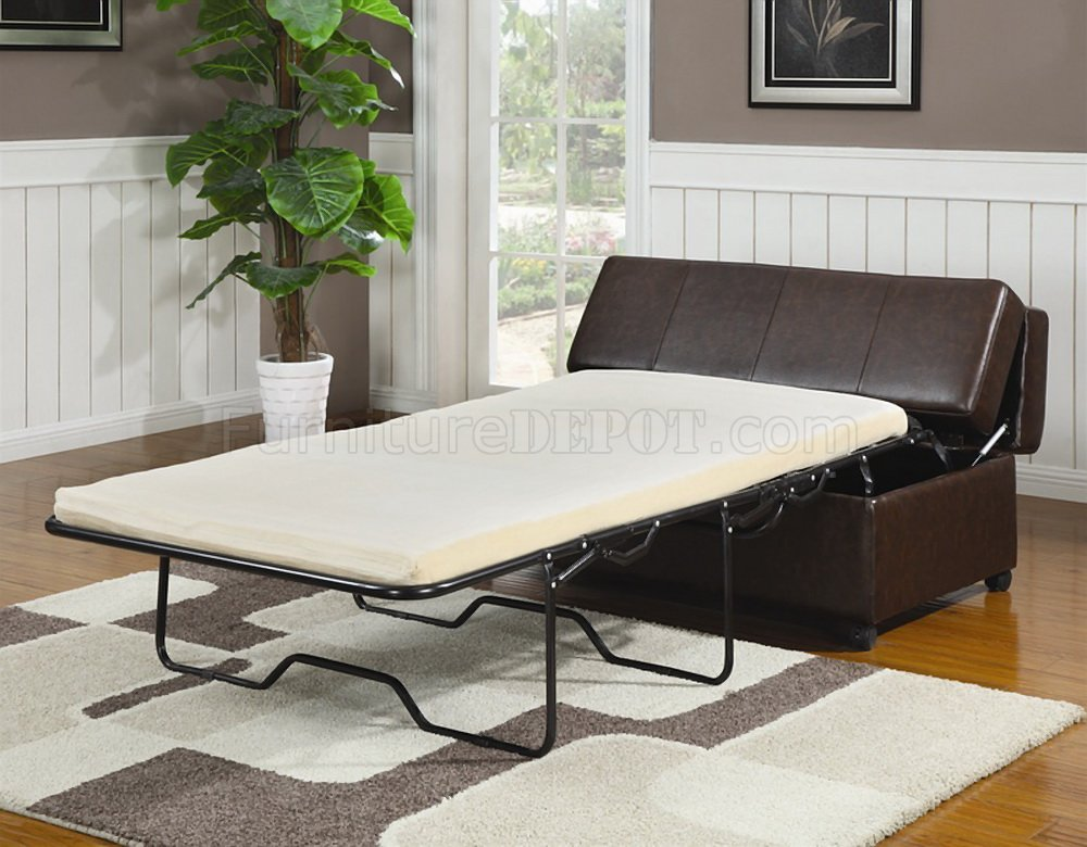 four club chairs in living room sofa set singapore brown vinyl modern bench ottoman w/fold out sleeper
