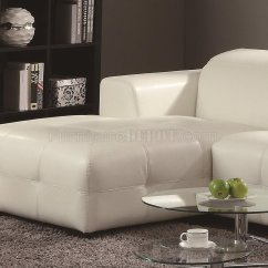 White Bonded Leather Sectional Sofa Set With Light New Seat Covers Darby 503617 Match