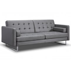 Gray Leather Sofa Bed James Lazy Boy Giovanni In Faux By Whiteline