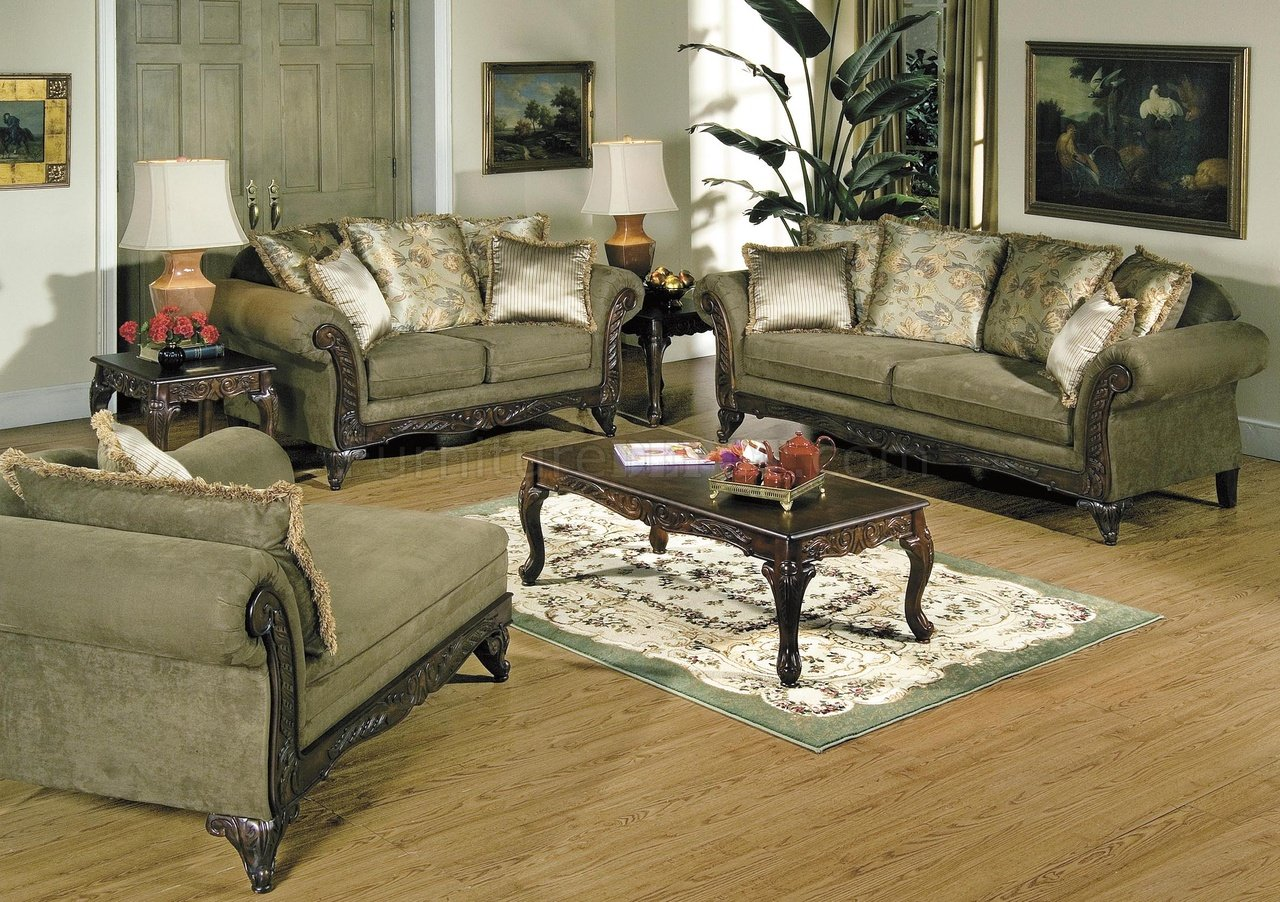 wood sofa for living room microfiber convertible alpine traditional w wooden