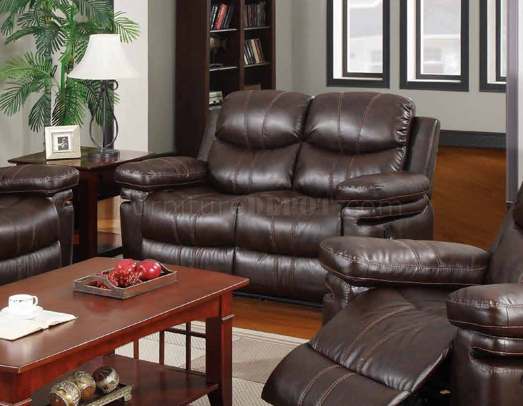 espresso bonded leather reclining sofa loveseat set lack table dimensions 7272 in w options