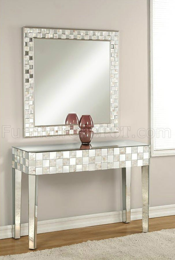 Nasa Console Table  Mirror Set 90244 in Mirrored  Pearl