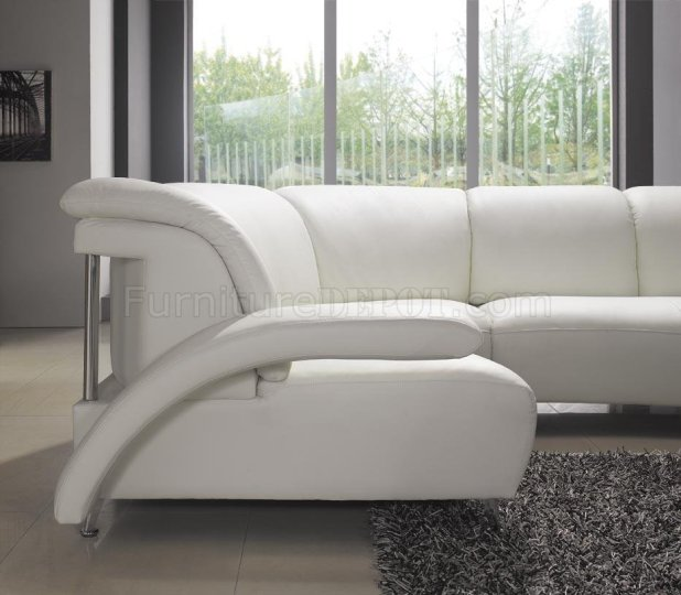 White leather u shaped sofa for Affordable modern furniture new york city