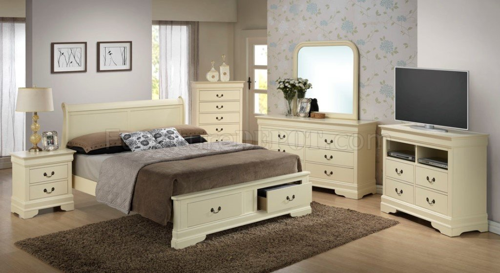 G3175D Bedroom by Glory Furniture in Beige wStorage Bed