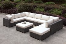Somani Cm-os2128-1 10pc Outdoor Patio Sectional Sofa Withottoman